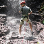 rappelling waterfall