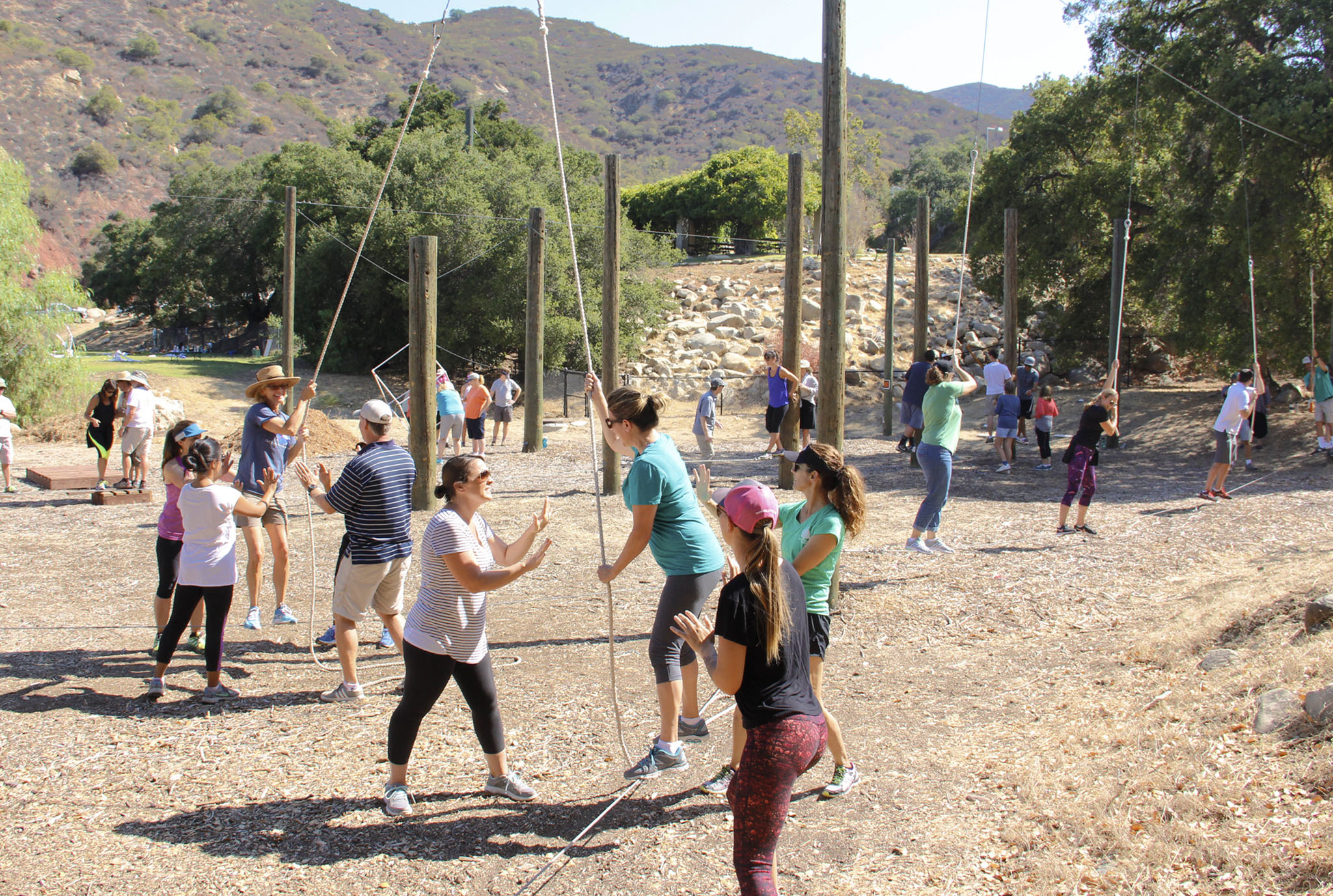 OVS Faculty Launch New Year on Ropes Course
