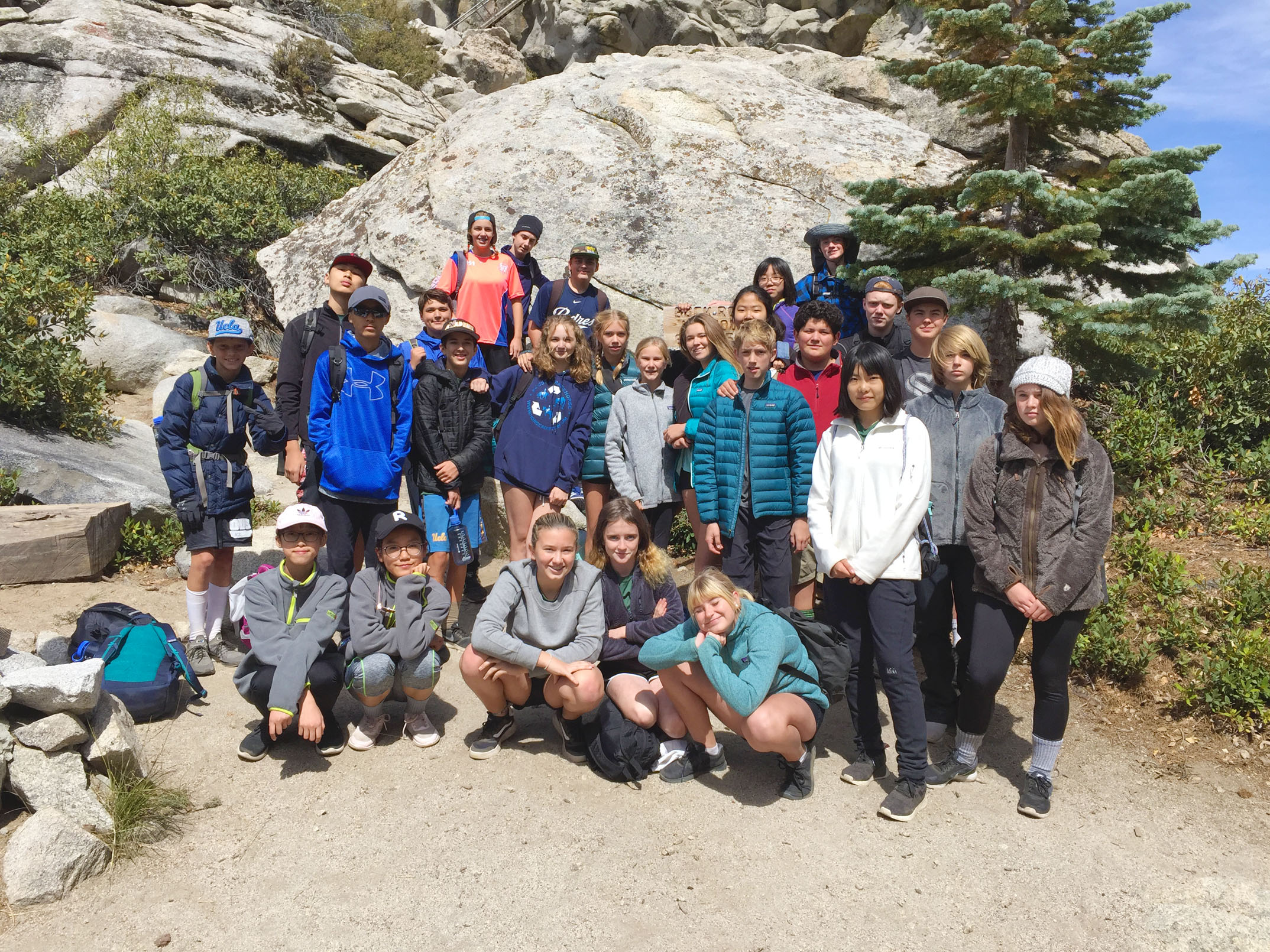 8th grade camping: Sequoia National Park - Ojai Valley