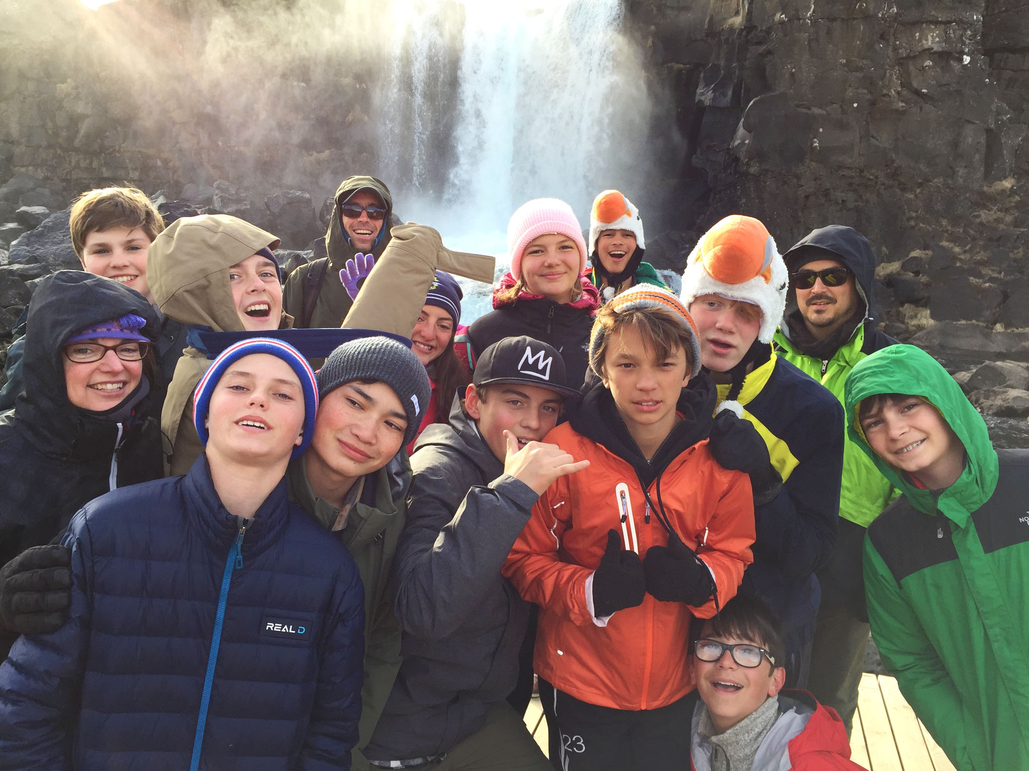Middle Schoolers explore Iceland